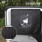 우븐트리 차량용 양면 자석 햇빛가리개 에스닉 염소 2
