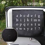 우븐트리 차량용 양면 자석 햇빛가리개 알파벳 2