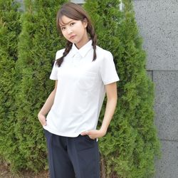 생활복 하복 여자 쿨론 화이트 교복 티셔츠