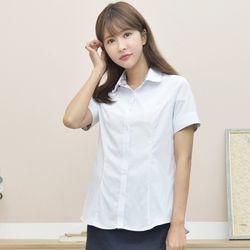 여자 스판반팔셔츠 교복반팔셔츠 각카라 둥근카라