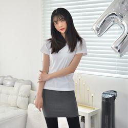 라인핏 화이트 기본 티셔츠 남자 여자 교복 생활복1