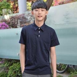 카라티 생활복 남자 쿨론 네이비 교복 티셔츠