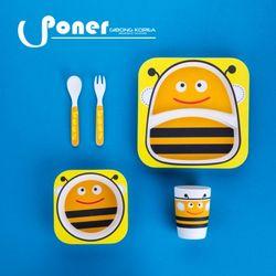 [포너] 대나무 키즈디너 5p세트 꿀벌 C0774PNOM
