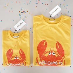 [SET] Lobster Yellow Mom & Baby T-shirts Set