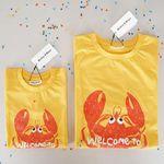 [SET] Lobster Yellow Mom & Baby T-shirts Set