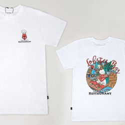 [SET] Lobster Mom & Baby White T-shirts Set