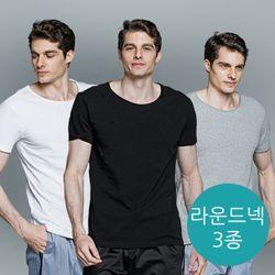 [에반크리스] 라운드 숏슬리브 티셔츠 3종 세트