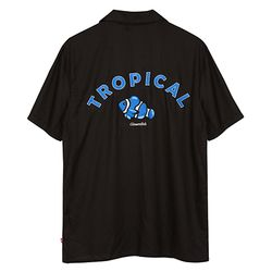 TROPICAL OPEN SHIRTS BLACK