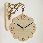 (ksjp477)원목 화인 플라워 양면시계