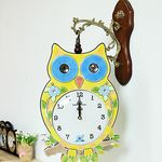 (kmkz0443)노랑 부엉이 양면시계
