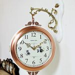 (kmkz0442)메탈골드 양면시계(화이트링)