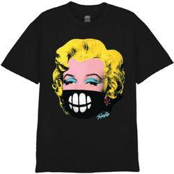 [사쿤][티셔츠]T-MASK MONROE(BLACK)