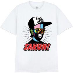 [사쿤][티셔츠]T-FAKE MAN(WHITE)