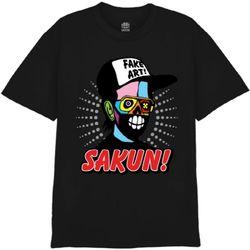 [사쿤][티셔츠]T-FAKE MAN(BLACK)