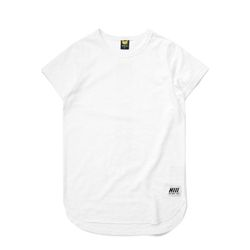 INSET SCALLOP LAYERING TEE - WHITE