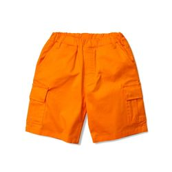 BASIC CARGO SHORTS - ORANGE