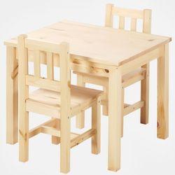마켓비 SVALA 유아 원목테이블의자세트