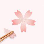 체리블로썸 젓가락 받침대 (꽃잎5개set)