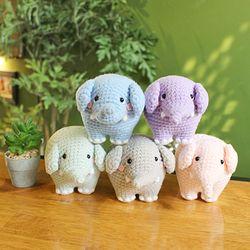 손뜨개인형 - 아기코끼리