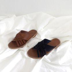 Cross cozy slipper