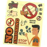 금연교육  동물친구 금연투명스티커(8매)