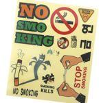 금연교육  금연투명스티커(8매)