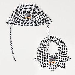 [SET] Dot Summer Hat & Bib