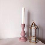 베이비핑크 wood candle holder (우드촛대 나무촛대)