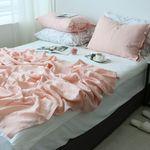 리미티드 린넨 핑크 여름이불-퀸기본세트+퀸패드