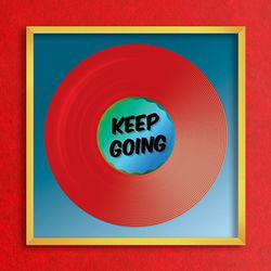 LP 메탈 액자 - keep going