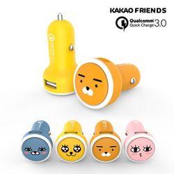 카카오프렌즈 차량용 퀄컴 고속충전기 USB 1PORT