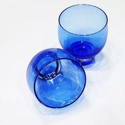 카페테리아 불투명 블루 사케잔 1P