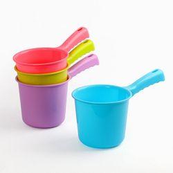 플라스틱 손잡이형 물바가지1개(색상랜덤)