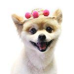 폼폼 밀짚 모자 (핑크)