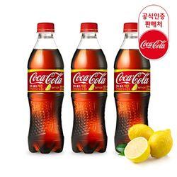 [무료배송] 코카콜라 공식코카콜라 레몬 500ml x 24PET