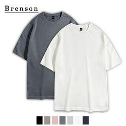 [1+1/무료배송] 소프트워싱 사이드트임 드랍 티셔츠 7컬러