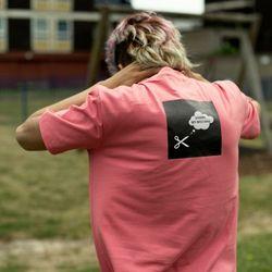 스왈로테일 버튼홀 반팔 티셔츠(핑크)