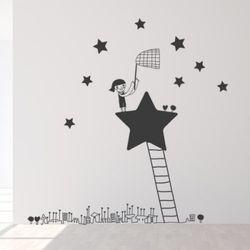 ic161-별을모으는소녀그래픽스티커