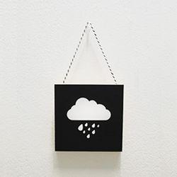 북유럽미니액자 프레임 Cloud rain