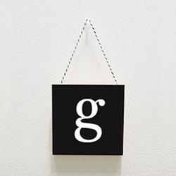 북유럽미니액자 프레임 Small letter g