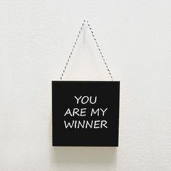 북유럽미니액자 프레임 You are my winner
