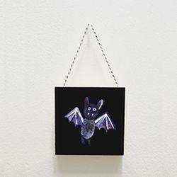 북유럽미니액자 프레임 Halloween bat