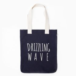 DRIZZLING WAVE ECO BAG-NAVY