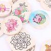민화 나무 컵받침 만들기 3개 1세트 전통 색칠놀이
