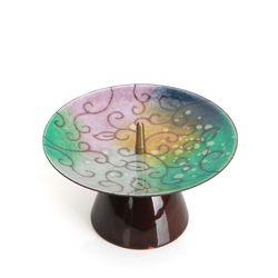 당초무늬 조각보 촛대 (대)
