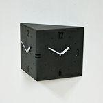 (ktk091)트윈벽시계(블랙)