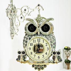 (kjco038)자개부엉이 양면시계 (SB)