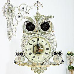 (kjco039)자개부엉이 양면시계 (SW)