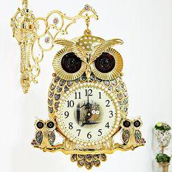 (kjco040)자개부엉이 양면시계 (GB)