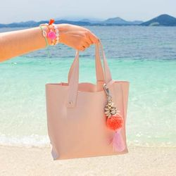 Badat Bag Charm Coral